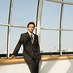 Businessman by a window